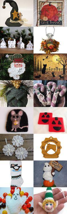 Homespun Handmade Holidays by Jami Lynn Bishop on Etsy--Pinned with TreasuryPin.com