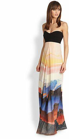 Diane von Furstenberg Adrianna Silk Maxi Dress