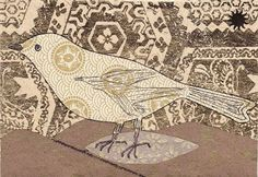 pheasant home decor | collage BIRD, made from wallpaper scraps, for home or office decor ...