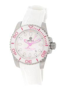 Deep Blue Lady Blue Sea Ramic 500 White Dial White Silicone Ladies Watch 3SRLBW