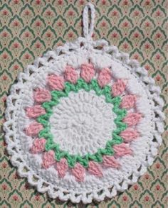 Picture of Flower Potholders Crochet Pattern