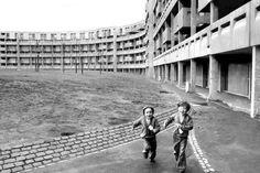 Another photo from The Crescents, Hulme, Manchester from the 1970s. Torn down in the 1990s.