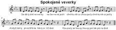 Spokojené veverky Sheet Music, Math Equations, Music Sheets