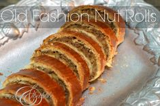 Homemade Nut Rolls - An old family recipe that shows up for every holiday! Old Fashioned Nut Roll Recipe that has been in my Slovak Recipes, Ukrainian Recipes, Hungarian Recipes, German Recipes, Baking Recipes, Cookie Recipes, Dessert Recipes, Bread Recipes, Holiday Baking