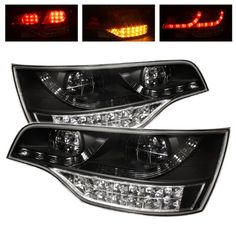 Spyder Audi Q7 0709 LED Tail Lights  Black ** Check out this great product. (This is an affiliate link) #CarLights