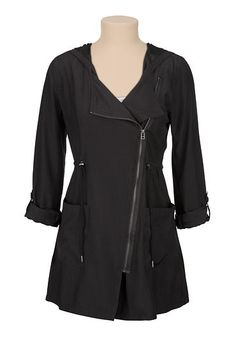 Asymmetrical zip tunic jacket - maurices.com