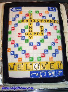 Cake Designs for Kids Birthdays - Scrabble Cake #cakedesigns