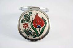 Kır Bahçesi Ceramic Jewelry, Tile Art, Elsa, Cufflinks, Objects, Ceramics, Mirror, Metal, Turkey