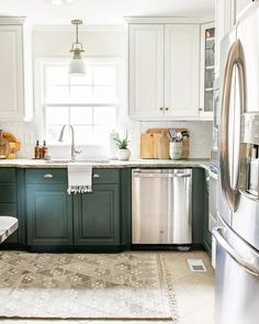 How to Decorate Kitchen Countertops | 1 simple rule for styling kitchen countertops and 10 items to make them pretty but functional. Fresh Farmhouse, Farmhouse Kitchen Decor, Farmhouse Style, Kitchen Countertop Decor, Kitchen Cabinets, Corner Cabinets, Kitchen Reno, Kitchen Island, Cool Kitchens