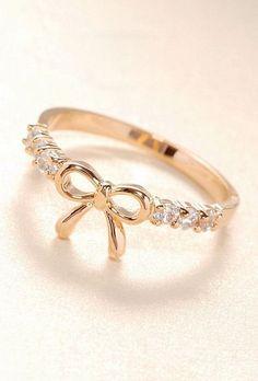 Diamond Bow Ring ♥