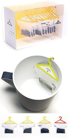 12 Creative Beverage Packaging Designs - packaging designs, creative package designs - Oddee - Hanger Tea Assignment It is a unique take on tea bags, usable, and humorous. The packaging is - Clever Packaging, Tea Packaging, Beverage Packaging, Pretty Packaging, Brand Packaging, Design Packaging, Packaging Ideas, Innovative Packaging, Japanese Packaging