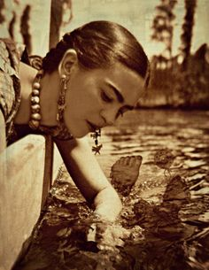 Frida Kahlo Photomontage What The Water Gave Me by ARTDECADENCE
