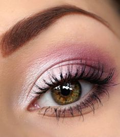 a nice way to wear pink eyeshadow without looking 13. A valentines look :) <3