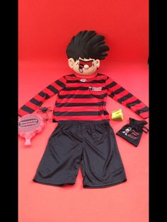 Beano Dennis The Menace Fancy Dress Outfit complete outfit Age 5 6 years 908535447