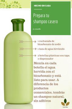 Para cabellos delicados y deteriodados por los químicos, acá una sencilla y fabulosa idea. Puedes preparar una mezcla casera de shampoo con bicarbonato de sodio, mientras más reseco esté el cabello aumenta la porción de este ingrediente