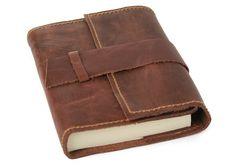 Attaché handgemachtes Leder geölten Haut, nachfüllbar-Notizbuch, Seiten aus 100% Baumwolle, Frei Baumwolle Geschenktüte (9cm x 13cm): Amazon.de: Küche & Haushalt
