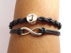 Personalized Infinity Bracelet for Men & Women Handmade in the USA by DaisyBell Beads $17.00