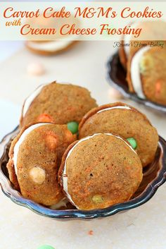 Carrot cake cookies – just like a cake but in a soft, sweet cookie with a touch of spices and packed with grated carrots sandwiched with cre...