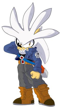 """""""Better Shaded Edgy Teen trying to save the Future"""" Edgy Teen, Silver The Hedgehog, Blue Streaks, Future, Twitter, Fictional Characters, Blue Stripes, Future Tense, Fantasy Characters"""