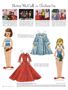 Betsy McCall on Christmas Eve (cluttershop) Tags: christmas illustration vintage cutout magazine betsy paperdoll mccall mccalls Paper Toys, Paper Crafts, Dyi Crafts, Vintage Christmas, Christmas Eve, Christmas Ideas, Vintage Paper Dolls, Vintage Toys, Retro Toys