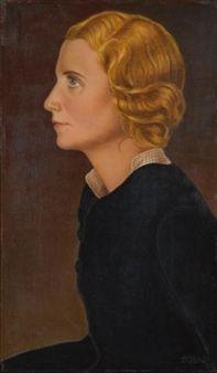 Maria (Maria Fidelius im Profil) Maria (Portrait of Maria Fidelius in Profile) By Christian Schad ,1930