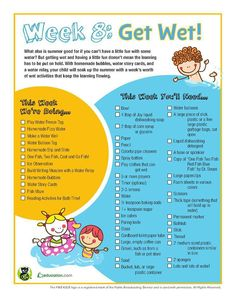 Week 8 of our summer reading camp is about getting wet. after all, it's summer! check out a week's worth of free ideas.