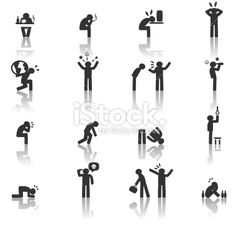 Stressed Icon Royalty Free Stock Vector Art Illustration