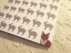 Nature Note Cards, Illustrated Greeting Card Set, Stationery Set of 10 Cute Animal Notecards