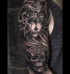 What does valkyrie tattoo mean? We have valkyrie tattoo ideas, designs, symbolism and we explain the meaning behind the tattoo. Skull Tattoos, Body Art Tattoos, New Tattoos, Tattoos For Guys, Tattoos For Women, Sleeve Tattoos, Tatoos, Norse Tattoo, Viking Tattoos