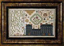 Meetinghouse is the title of this cross stitch pattern from Examplar Dames Design Company that is stitched with NPI Silks (696, 698, 915, 33...