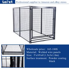 For Amazon and eBay store welded tube welded wire mesh expandable dog fence  http://www.lepetco.com/category/pet-products/large-outdoor-dog-kennel-large-dog-fence-dog-house/