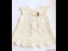 Crochet dress| How to crochet an easy shell stitch baby / girl's dress for beginners 3 - YouTube