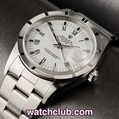 Rolex Date 34mm Box & Papers - 'Hour Mark Bezel' REF: 15210 | Year Jun 2003 - Originally retailed in 2003, the lovely crisp shoulders and super sharp bezel tell us this classic Oyster Perpetual Date has been extremely well looked after! An all time classic, this  ref.15210  features a white dial with silver markers & black roman numerals, and luminous hands. Powered by Rolex's chronometer rated automatic movement (cal.3135), and fitted to a steel Oyster bracelet, our watch is waterproof to…