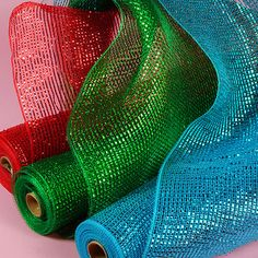 "Single Color Laser Deco Mesh in 21"" x 10 Yard Rolls! #decomesh"
