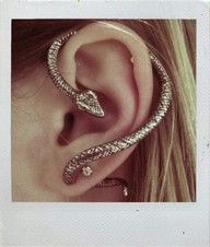 I don't like snakes, but this is nice. Snake piercing for the ear