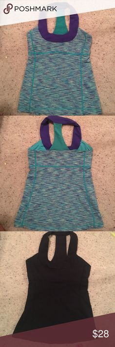 Lululemon scoop neck tops Size 6 both excellent condition no pads ( price it's for ONE top) 2 available in this size have lots of tops size 4 lululemon athletica Tops