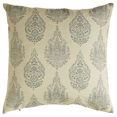 Rambagh Woven Paisley Pillow - Blue | Pier 1 Imports