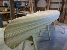 Starting to look like a canoe.