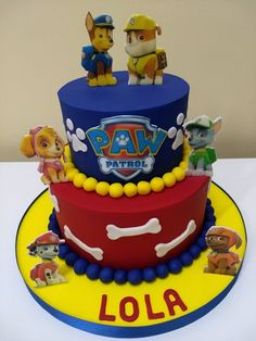 Paw Patrol Birthday Cake, Paw Patrol Party, Dog Birthday, Boy Birthday Parties, Baby Boy Cakes, Cakes For Boys, Torta Baby Shower, Pastel Paw Patrol, Torta Paw Patrol