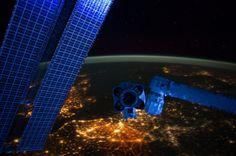 European Panorama at Night (NASA, International Space Station - Photo: NASA