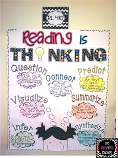 Reading is Thinking  Anchor chart by The Pinspired Teacher