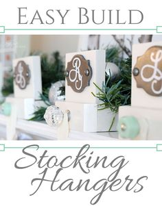 Virginia at Fynes Designs used some of our prettiest knobs to make customized stocking hangers for her home. Great idea and easy to do yourself. A tutorial is included. Decoration Christmas, Xmas Decorations, Rustic Christmas, Holiday Fun, Christmas Holidays, Handmade Decorations, Christmas 2019, Holiday Ideas, Merry Christmas