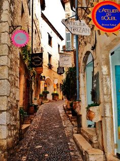 St Paul de Vence, France --  (Colombe d'Or restaurant there is wonderful!