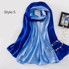 Natural Silk Women Scarf Shawl Large imitated Silk Scarves/ Wraps
