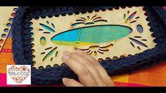 Caja para pañuelos de trapillo - YouTube Base, Youtube, Trapillo, Crates, Crocheting, Wood, Youtubers, Youtube Movies