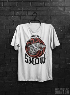 House Snow Jon Snow Of Targaryen Stark Game GOT Wolf Dragon Thrones Inspired Adults Mens & Women's T-shirt Top Tee Shirt All Sizes And Cols