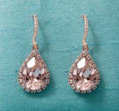Gorgeous Rose Gold Earrings (Haute Bride): M Bridal Salon