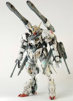 GUNDAM GUY: HG 1/144 Barbatos Lupus + Galaxy Canon - Custom Build