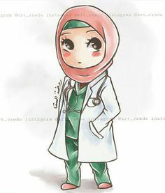 Nurse Cartoon, Girl Cartoon, Anime Art Girl, Anime Guys, Cartoon Drawings, Cute Drawings, Medical Clip Art, Medical Wallpaper, Hijab Drawing