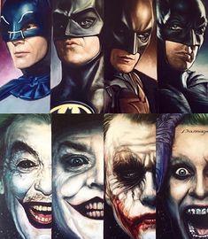 its ALWAYS good no matter who played them.they are still batman vs joker.light vs the dark - Visit to grab an amazing super hero shirt now on sale! Joker Batman, Batman Robin, Batman Batcave, Batman Cartoon, Joker Art, Batman Arkham, Marvel Vs, Marvel Dc Comics, Gotham City